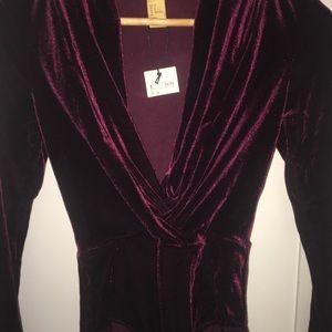 Merlot velvet bodysuit